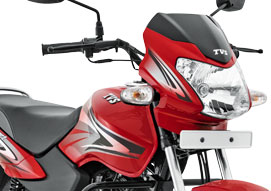 A sporty new finish that compliments the styling of TVS Sport